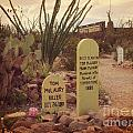 The Cemetery At Boothill by John Malone