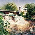 The Chagrin Falls In Summer by Maryann Boysen