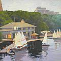 The Charles River Sailing Club by Dianne Panarelli Miller