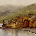 The Charming Town Of Camogli Italy by Nan Wright