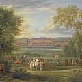 The Chateau Of Saint Germain Oil On Canvas by Adam Frans van der Meulen