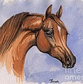 The Chestnut Arabian Horse 1 by Angel Ciesniarska