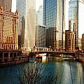 The Chicago River From The Michigan Avenue Bridge by Mariana Costa Weldon