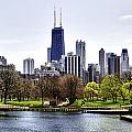 The Chicago Skyline Day-001 by David Allen Pierson