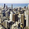 The Chicago Skyline From Sears Tower-001 by David Allen Pierson