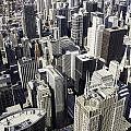 The Chicago Skyline From Sears Tower-004 by David Allen Pierson
