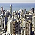 The Chicago Skyline From Sears Tower-009 by David Allen Pierson