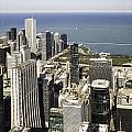 The Chicago Skyline From Sears Tower-011 by David Allen Pierson