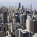 The Chicago Skyline From Sears Tower-013 by David Allen Pierson