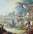 The Chinese Fair, C.1742 Oil On Canvas by Francois Boucher