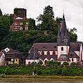 The Church And Heimburg In Niederheimsbach Am Rhein by Jouko Lehto