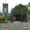 The Church Gate At Kirklands In Kendal by Joan-Violet Stretch