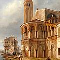 The Church Of Santa Maria E San Donato In Murano by Luigi Querena