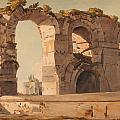 The Claudian Aquaduct Rome by Celestial Images