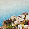 The Cliffside - Santorini by Lisa Parrish