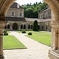 The Cloister Courtyard - Cloister Fontenay by Christiane Schulze Art And Photography