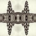 The Clones Of The Church Ruins Sepia by Yevgeni Kacnelson