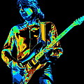 The Colorful Sound Of Mick Playing Guitar by Ben Upham