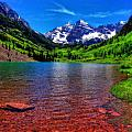 The Colors Of Maroon Bells In Summer by Dan Sproul