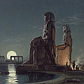 The Colossi Of Memnon, Thebes, One by Carl Friedrich Heinrich Werner