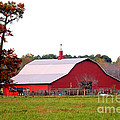 The Country Red Barn by Kathy  White