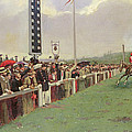 The Course At Longchamps by Jean Beraud