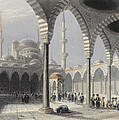 The Court Of The Mosque Of Sultan by William Henry Bartlett