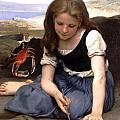 The Crab-1869 by William Adolphe Bouguereau