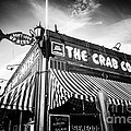 The Crab Cooker Newport Beach Black And White Photo by Paul Velgos