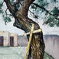 Da216 The Cross And The Tree By Daniel Adams by Daniel Adams