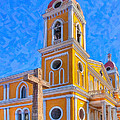 The Cross Beside The Golden Cathedral - Granada by Mark E Tisdale