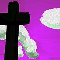 The Cross On Purple by Bruce Nutting