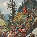 The Crossing Of The Alps, Illustration by Albert Robida