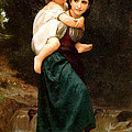 The Crossing Of The Ford by William Bouguereau