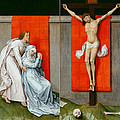 The Crucifixion With The Virgin And Saint John The Evangelist Mourning by Rogier van der Weyden
