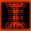 The Curtain - Orange  by Mihaela Stancu