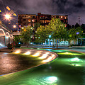 The Curved Fountain by Daryl Clark