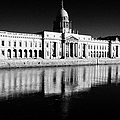 The Custom House Reflected In The River Liffey First Of Dublins Public Buildings Architect Was James Gandon by Joe Fox