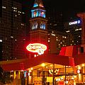 The Daniels And  Fisher Tower At Night by John Malone