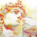 The David By Michelangelo. Tribute by J  - O   N    E