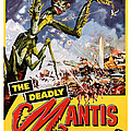 The Deadly Mantis 1957 Vintage Movie Poster by Presented By American Classic Art