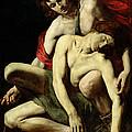 The Death Of Hyacinthus  by Italian School