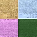 The Declaration Of Independence In Colors by Rob Hans