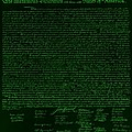 The Declaration Of Independence In Negative Green by Rob Hans