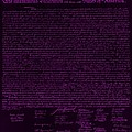 The Declaration Of Independence In Negative Purple by Rob Hans