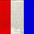 The Declaration Of Independence In Red White Blue by Rob Hans