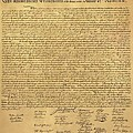 The Declaration Of Independence In Sepia by Rob Hans