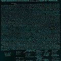 The Declaration Of Independence In Turquoise by Rob Hans