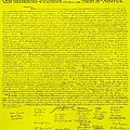 The Declaration Of Independence In Yellow by Rob Hans