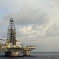 The Deepwater Horizon And Rainbow by Bradford Martin
